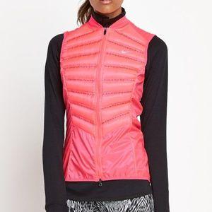 Pink Nike Aeroloft 800 Down Running Vest Sz XS